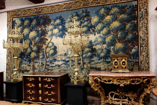 Large Aubusson Tapestry - Verdure with peacocks, 450 cm, 18th century - Tapestry & Carpet Style