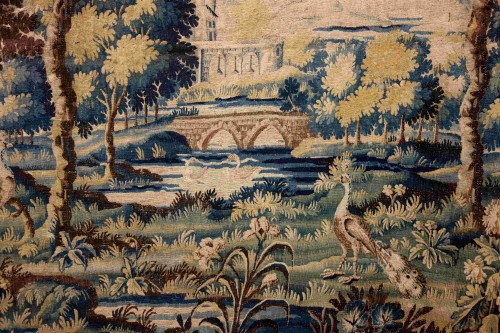 Tapestry & Carpet  - Large Aubusson Tapestry - Verdure with peacocks, 450 cm, 18th century