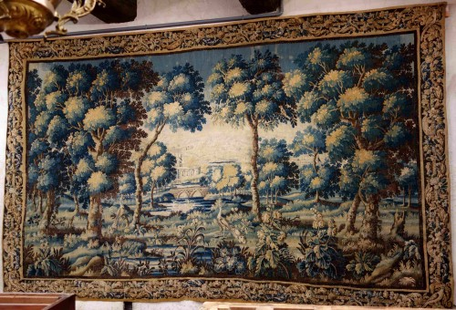 Large Aubusson Tapestry - Verdure with peacocks, 450 cm, 18th century -