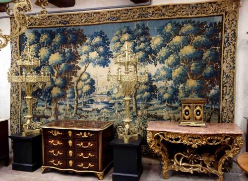 Antiquités - Large Aubusson Tapestry - Verdure with peacocks, 450 cm, 18th century