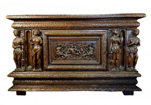 Large chest of the Second Renaissance with allegories of the four seasons