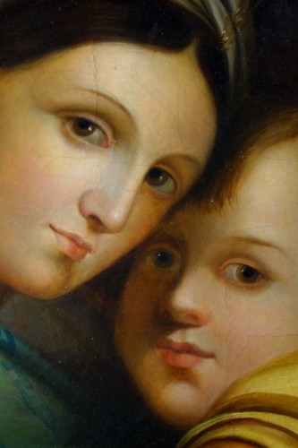 Madonna della Seggiola, according to Raphaël, Italian school early 19th century -
