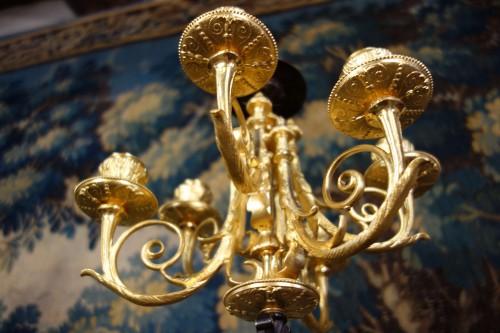 Napoléon III - Large pair of candelabra signed James Pradier