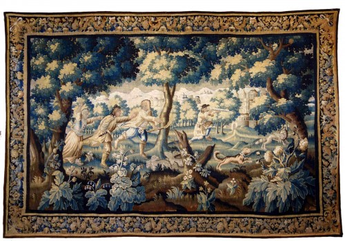 "Large Aubusson tapestry ""The Fox Hunt"", early 18th century"