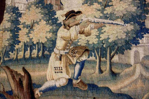 "Tapestry & Carpet  - Large Aubusson tapestry ""The Fox Hunt"", early 18th century"