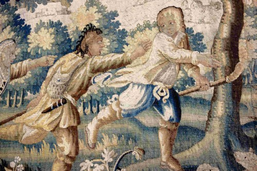 "Large Aubusson tapestry ""The Fox Hunt"", early 18th century -"