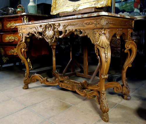 """Furniture  - French Regence period """"Table à gibier"""""""
