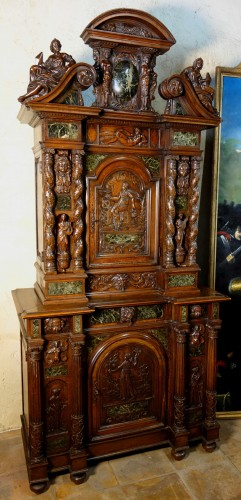 Cabinet Bellifontain attributed to Maison Ribaillier, supplier of Napoleon - Furniture Style Napoléon III