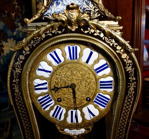 "Clocks  - Violin applique cartel in Boulle marquetry, ""Saint Martin à Paris"""
