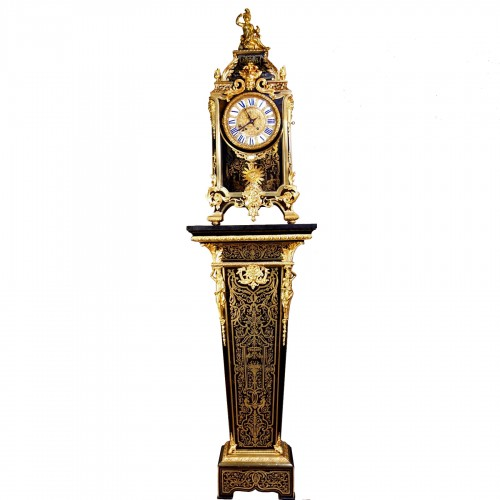 Cartel clock in Boulle marquetry on sheath by Thuret