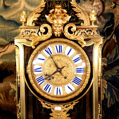 Cartel clock in Boulle marquetry on sheath by Thuret - Napoléon III