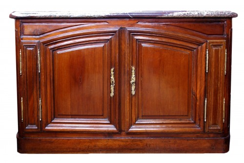 Hunting buffet in solid mahogany,  port work