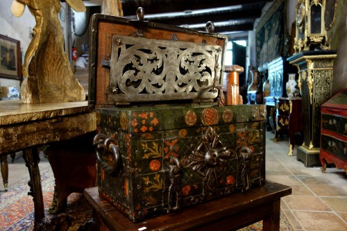 Nuremberg chest signed and polychromed -