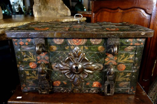 - Nuremberg chest signed and polychromed