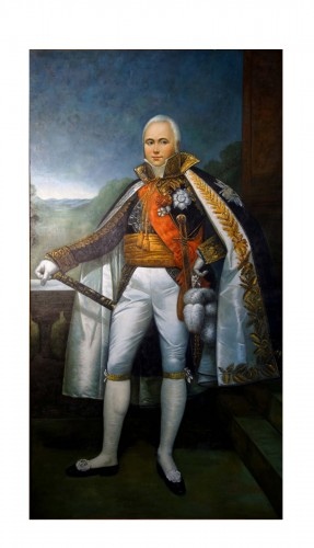 Large full-length portrait of the Empire Marshal Victor
