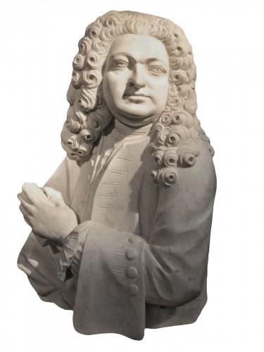 Marble aristocrat bust, 17th century Italy