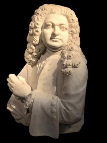 Marble aristocrat bust, 17th century Italy - Sculpture Style