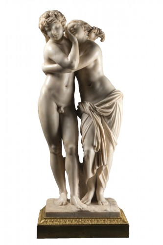 Byblis and caunos, marble late XVIII Italian school