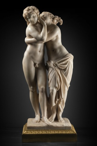 Sculpture  - Byblis and caunos, marble late XVIII Italian school