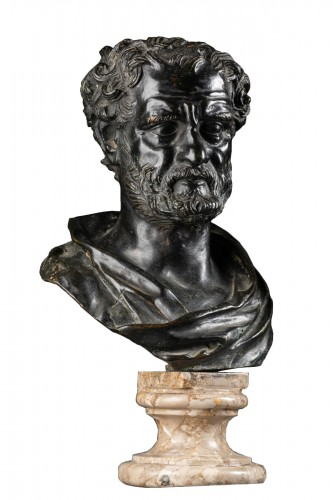 Bust of a philosopher in bronze, Italy late 18th century