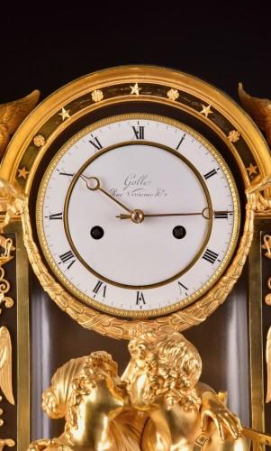 """""""Le Réconciliation"""", A large romantic Empire ormolu clock -"""
