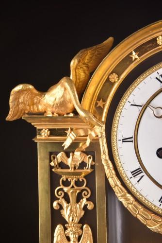 """19th century - """"Le Réconciliation"""", A large romantic Empire ormolu clock"""