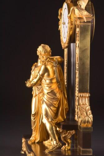 """Empire - """"Le Réconciliation"""", A large romantic Empire ormolu clock"""