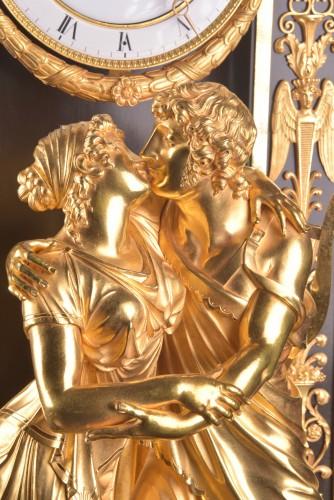 """Antiquités - """"Le Réconciliation"""", A large romantic Empire ormolu clock"""