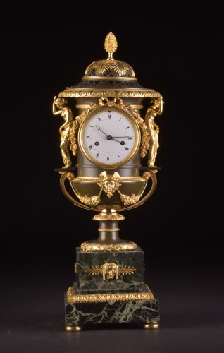 Horology  - Large French Ormolu and Marble Urn Mantel Clock by Thomire, circa 1800