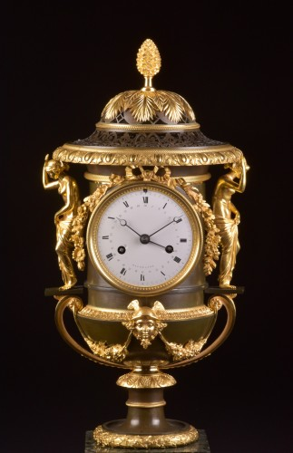 Large French Ormolu and Marble Urn Mantel Clock by Thomire, circa 1800 -