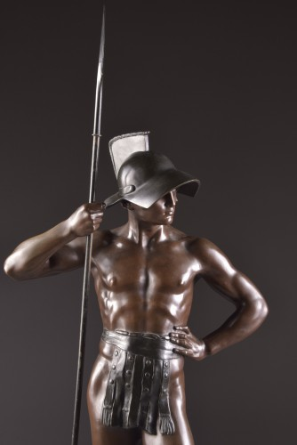 """Jean Lavergne (1863-1928). - """"Animus et VIs""""  A Monumental Bronze Figure  - Sculpture Style Art nouveau"""