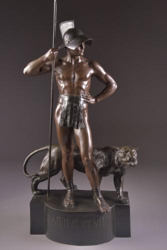 """Jean Lavergne (1863-1928). - """"Animus et VIs""""  A Monumental Bronze Figure  -"""