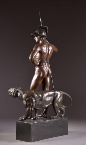 """Jean Lavergne (1863-1928). - """"Animus et VIs""""  A Monumental Bronze Figure  - Art nouveau"""