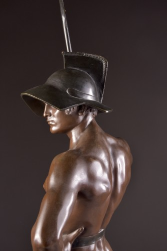"""Art nouveau - Jean Lavergne (1863-1928). - """"Animus et VIs""""  A Monumental Bronze Figure"""
