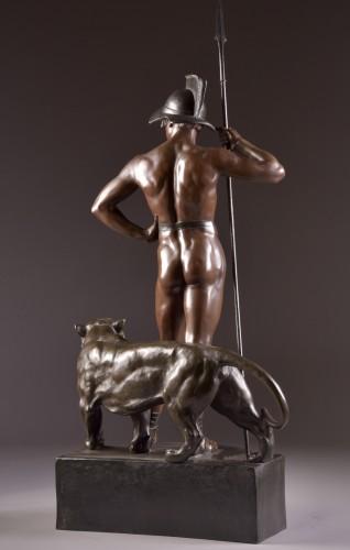 """Antiquités - Jean Lavergne (1863-1928). - """"Animus et VIs""""  A Monumental Bronze Figure"""