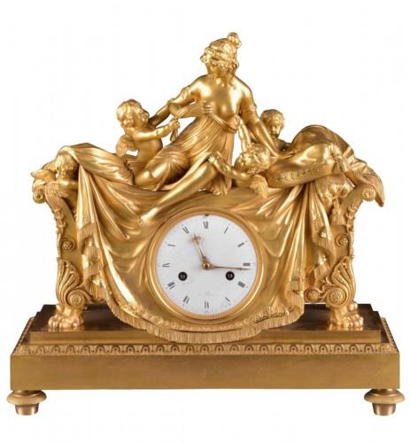 French Empire clock att. to Claude Galle