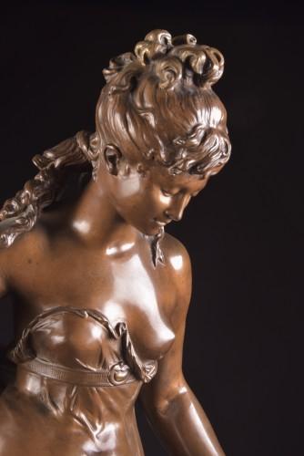 Jeune fille et oiseau - Mathurin Moreau (1822 -1912) -