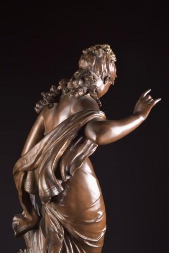 Jeune fille et oiseau - Mathurin Moreau (1822 -1912) - Art nouveau