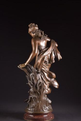 Art nouveau - Jeune fille et oiseau - Mathurin Moreau (1822 -1912)