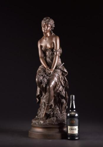 Le Rêve (The dream) - Hippolyte François Moreau (1832-1927) - Sculpture Style Art nouveau