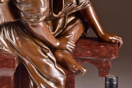 Edouard Pepin (1842-1927), Young shoeshine Arabian  - Sculpture Style Art nouveau