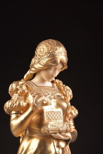 Pandora sculpture - Dominique ALONZO ( act. 1910-1930) - Sculpture Style Art nouveau