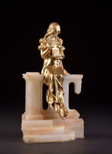 20th century - Pandora sculpture - Dominique ALONZO ( act. 1910-1930)