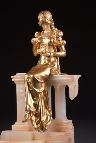 Art nouveau - Pandora sculpture - Dominique ALONZO ( act. 1910-1930)