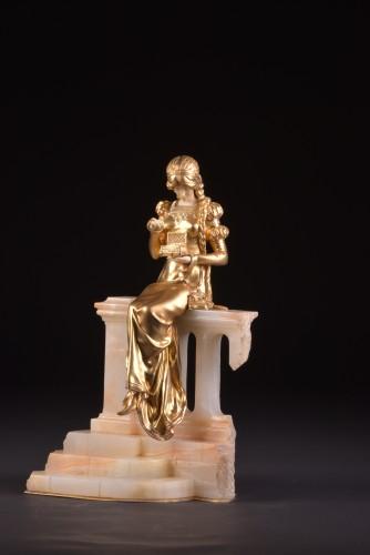 Antiquités - Pandora sculpture - Dominique ALONZO ( act. 1910-1930)