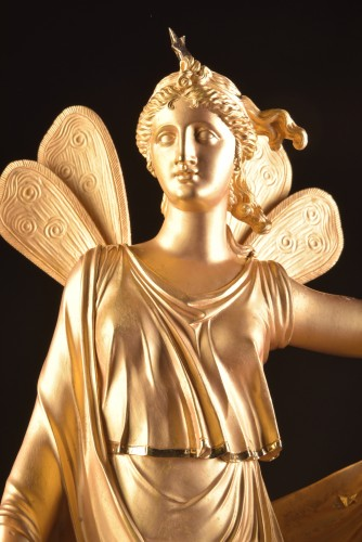 Antiquités - A large French Ormolu Empire pendule, Le Roy Horlogier du Roi à Paris