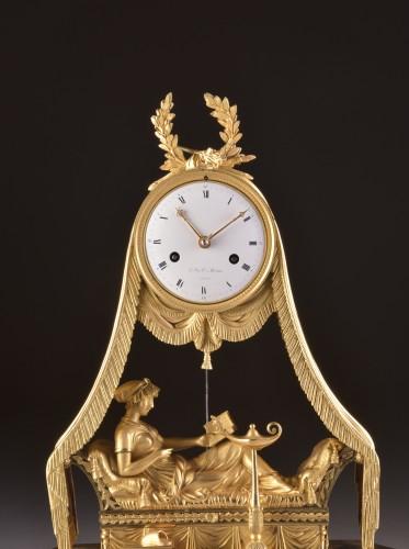 Madam Recamier, signed Bazile-Charles Le Roy (1765-1839) - Horology Style Empire