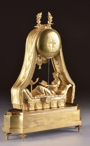 Antiquités - Madam Recamier, signed Bazile-Charles Le Roy (1765-1839)