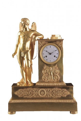 Allegory of poetry - French Empire clock