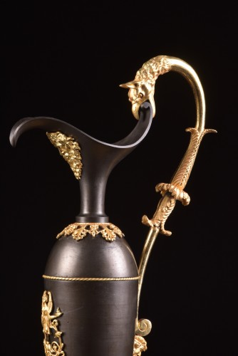 19th century - A Large Empire bronze ewers